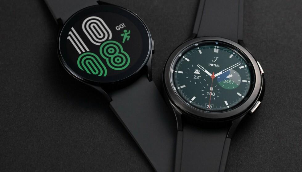Samsungs lar deg velge mellom en rekke klokkebakgrunner, som også kan synkroniseres med låseskjermen på telefonen din slik at de to får samme stil. Foto: Samsung