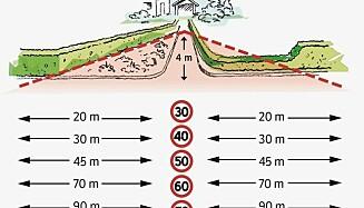VEI: Her må det være fire meter fri sikt. Foto: Statens vegvesen.