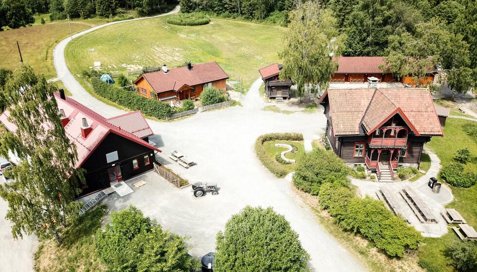Bærumsmarka: Sæteren gård ligger en fin rusletur fra Øverland i Bærum. Foto: Eivind Haugstad Kleven/DNT