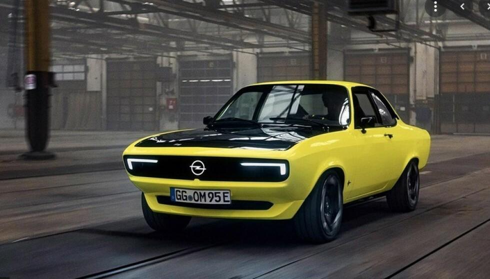 NY OPEL MANTA: Om tre-fire år er en elektrisk utgave av Opel Manta klar for salg. Foto: Opel