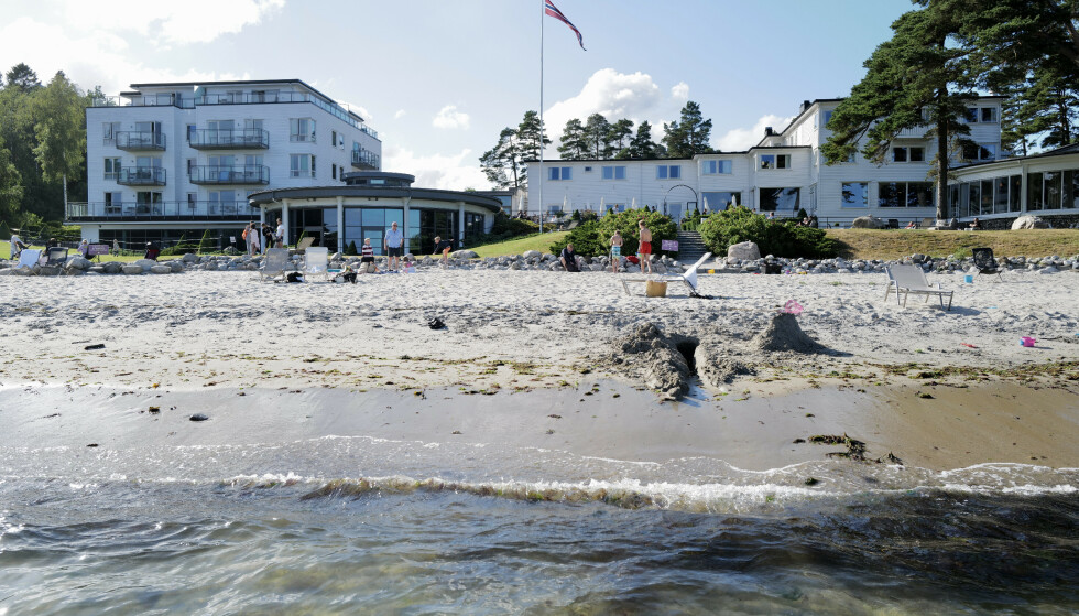 JUBELSOMMER: Badehotellet Strand Hotel Fevik ved Grimstad har hatt en ny knallsommer. Foto: Odd Roar Lang/The Travel Inspector.