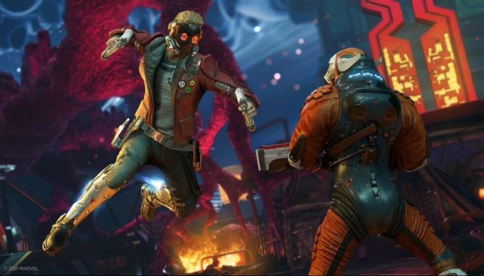 STAR LORD: Gjengen i «Guardians of the Galaxy» er tilbake i spillformat. Foto: Square Enix