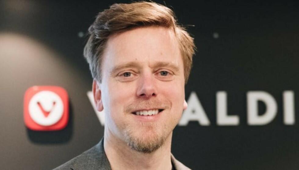 SKUFFET: Tor Odland, markedsdirektør i Vivaldi, sier han dessverre ikke er overrasket over Microsofts grep. Foto: Vivaldi