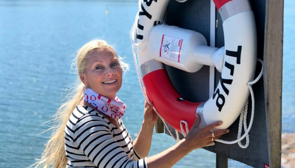 SLIK SKAL LIVBØYEN HENGE: Monica Rimestad er samfunnsansvarlig i Tryg Forsikring.
