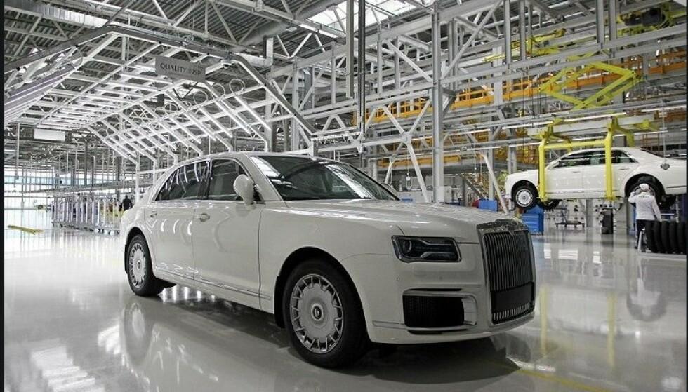 BARE 300 i ÅRET: Planen er å bygge mellom 200 og 300 Aurus Senat i året på fabrikken i Yelabuga i Russland. Foto: Aurus Motor