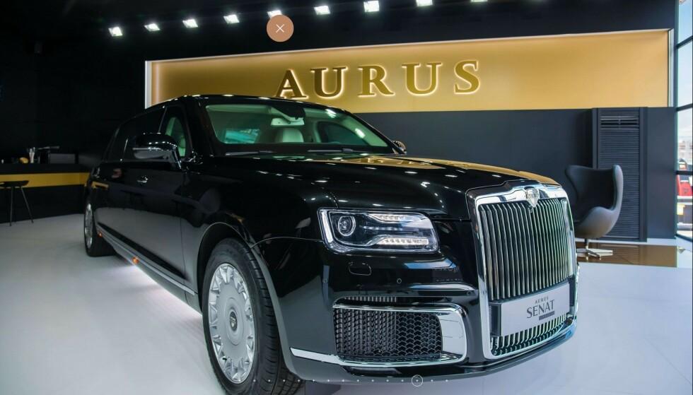 PRESTISJE-PROSJEKT: President Vladimir Putin var en pådriver for å få i gang utvikling og produksjon av denne bilen som tar mål av seg til å stjele kunder fra Rolls-Royce. Foto: Aurus Motors