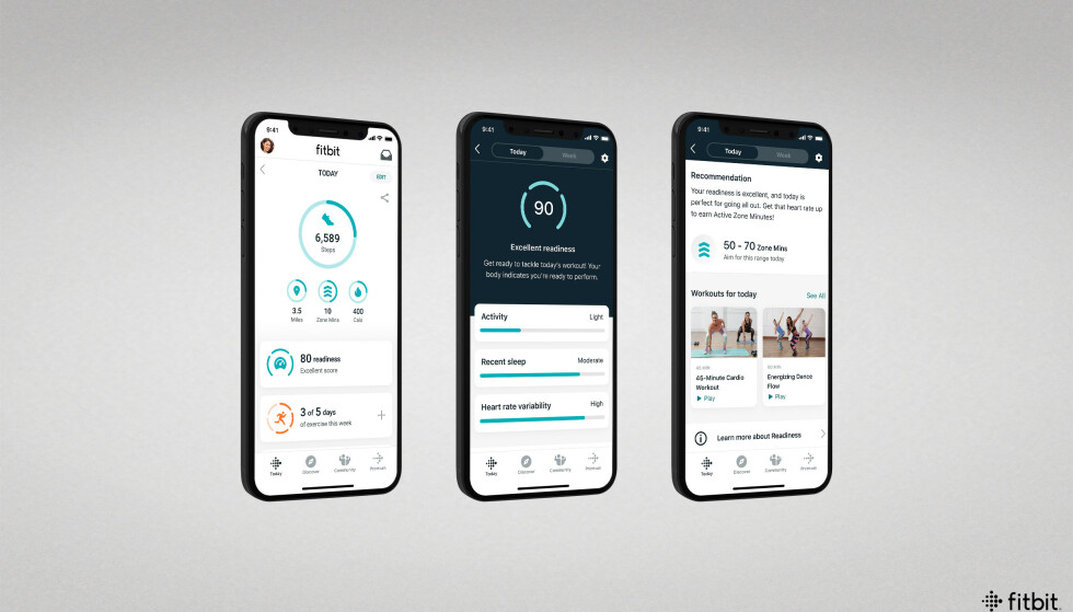 DAILY READINESS: Fitbit Charge 5 og flere andre Fitbit-klokker får en ny funksjon kalt Daily Readiness Score. Foto: Fitbit