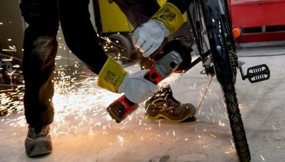 TESTET: Sykkeltyverier har økt med 20 prosent fra 2019 til 2020. Foto: NAF