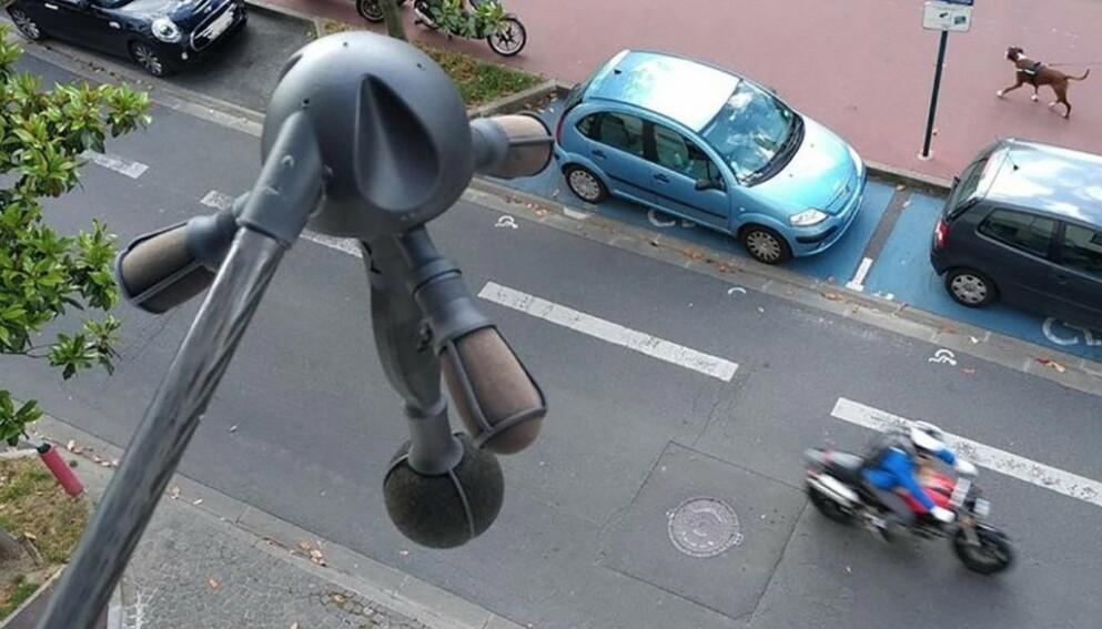 NY RADAR: I Frankrike har myndighetene tatt i bruk denne støy-radaren for å gi bøter til eiere av biler og motorsykler som støyer for mye. Støy er et helseproblem på linje med passiv røyking, mener myndighetene. Foto: Amazon product advertising