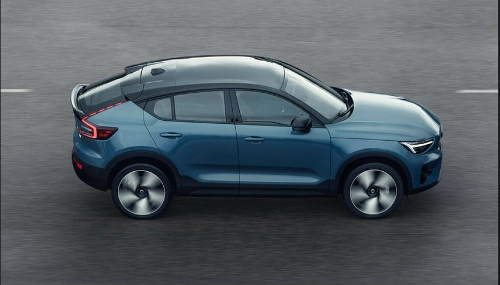 SPORTSLIG: Med sin kupé-aktige fasong, firehjulstrekk og over 400 hester, blir C40 en svært sportslig bil. Foto: Volvo