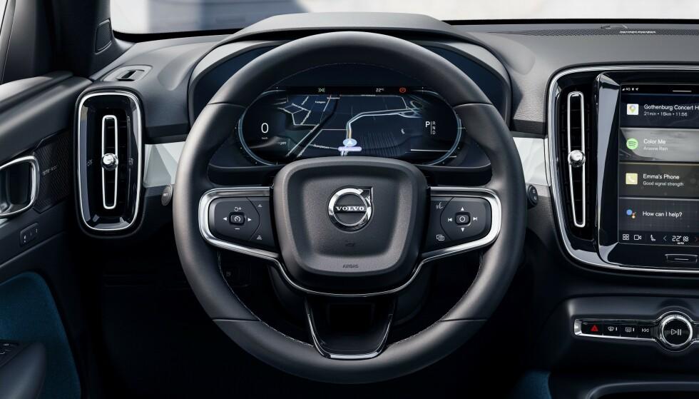 BILLIG BILHOLD: Volvo inkluderer blant annet tre års gratis service, tre års forsikring, pluss en del annet i prisen du betaler for C40. Foto: Volvo