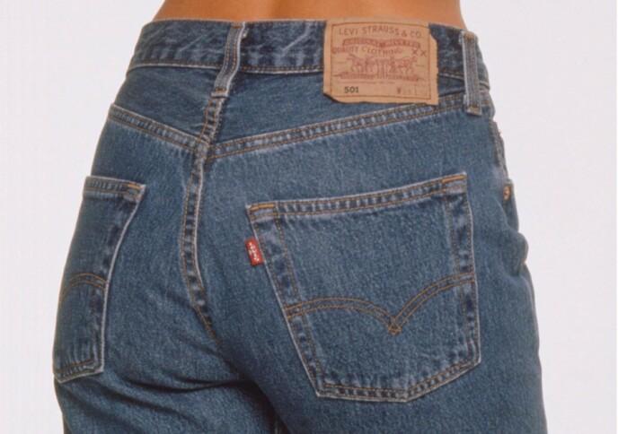 LEGENDE: Levi's sine 501 bukser er kanskje den mest ikoniske jeansbuksa som noensinne er laget. Den kommer imidlertid ikke bra ut av den britiske kvalitetstesten. Foto: NTB