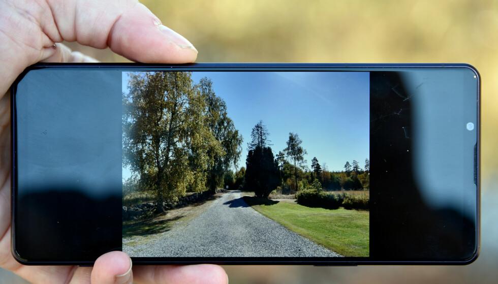SORT: Når du ser på bilder du har tatt, i 4:3-format, blir 43 prosent av skjermen sort. Foto: Pål Joakim Pollen