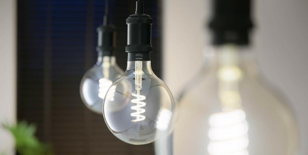 Nelle nuove lampadine Hue Filament, puoi anche regolare la temperatura del colore.