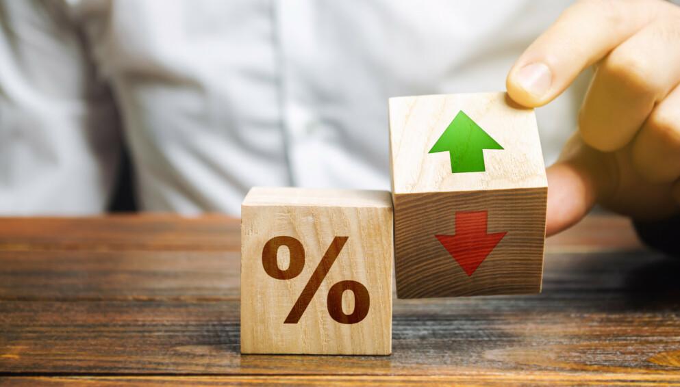 SKAL OPP: I dag ligger styringsrenta på 0 prosent. Ifølge SSBs spådommer vil den stige til 1,75 prosent i løpet av tre år. Foto: Shutterstock / NTB