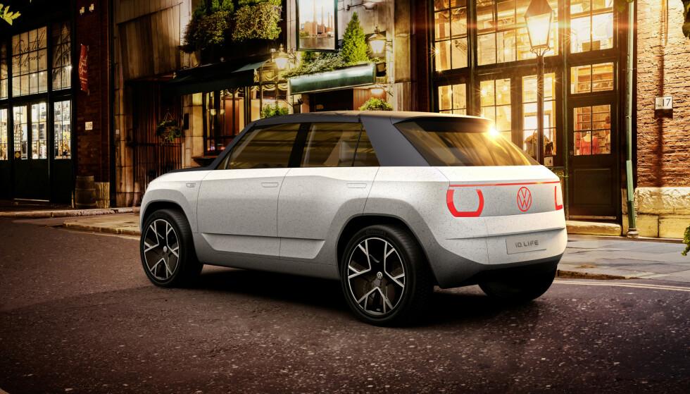 MINDRE ENN ID.3: Bilen er mindre enn dagens ID.3 og blir en såkalt crossover – en mellomting mellom en vanlig personbil og en SUV, Foto: VW