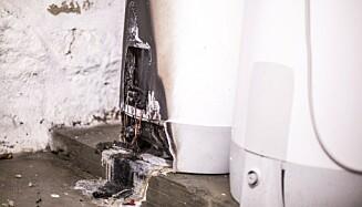 VARMTVANNSBEREDER: Hvis den ikke er ordentlig tilkoblet kan det være en brannfelle. Foto: Elsikkerhetsportalen.no
