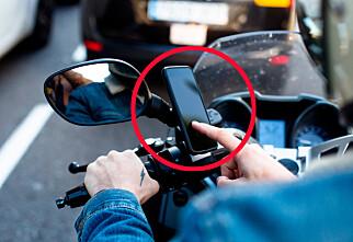 Advarer mot iPhone på motorsykkel