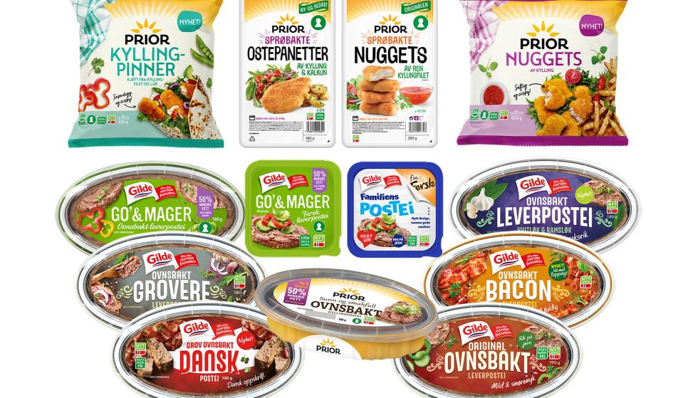 TRUKKET TILBAKE: Disse produktene ble trukket av Nortura i forrige uke, og er bare noen få av en mengde produkter som har blitt trukket fra markedet av samme årsak. Foto: Nortura
