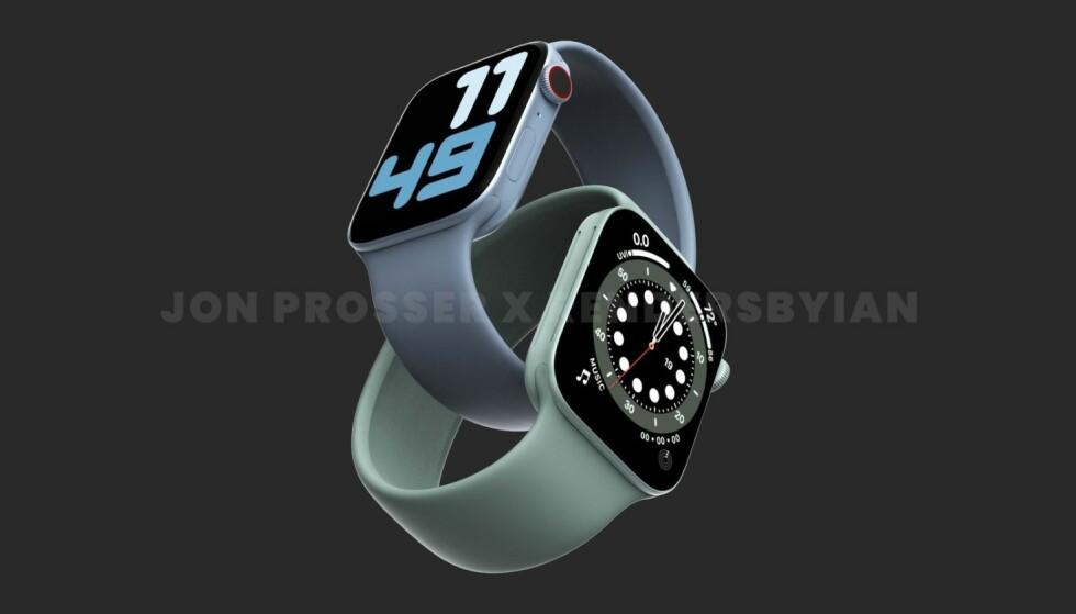 Jon Prosser tror Apple Watch 7 får et utseende som minner mer om de nyeste iPhone-modellene. Foto: jon Prosser
