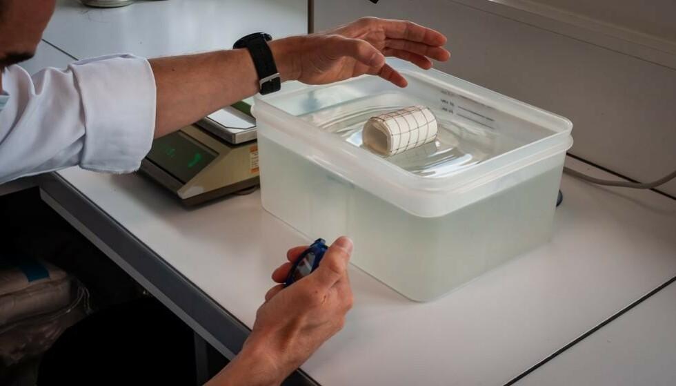 HØYOPPLØSNING: En omfattende test av toalettpapir i et fransk laboratorium har, blant annet, undersøkt hvor raskt de ulike papirene løser seg opp i kontakt med vann. Her er det til dels store forskjeller, og de dopapir-typene som kommer dårligst ut, har lettere for å tette avløpet. Foto: SGS France