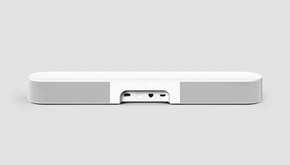 Som forgjengeren er det også få tilkoblingsmuligheter på Sonos Beam 2. Foto: Sonos
