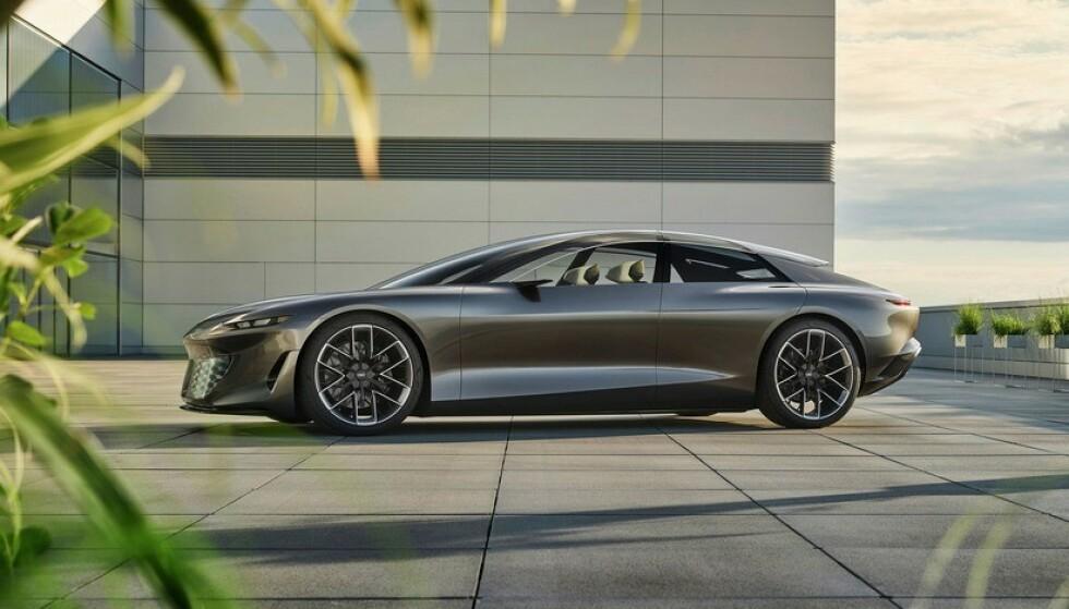 I 2024?: Denne konseptbilen viser et glimt av Audis nye flaggskip. Foto: Audi