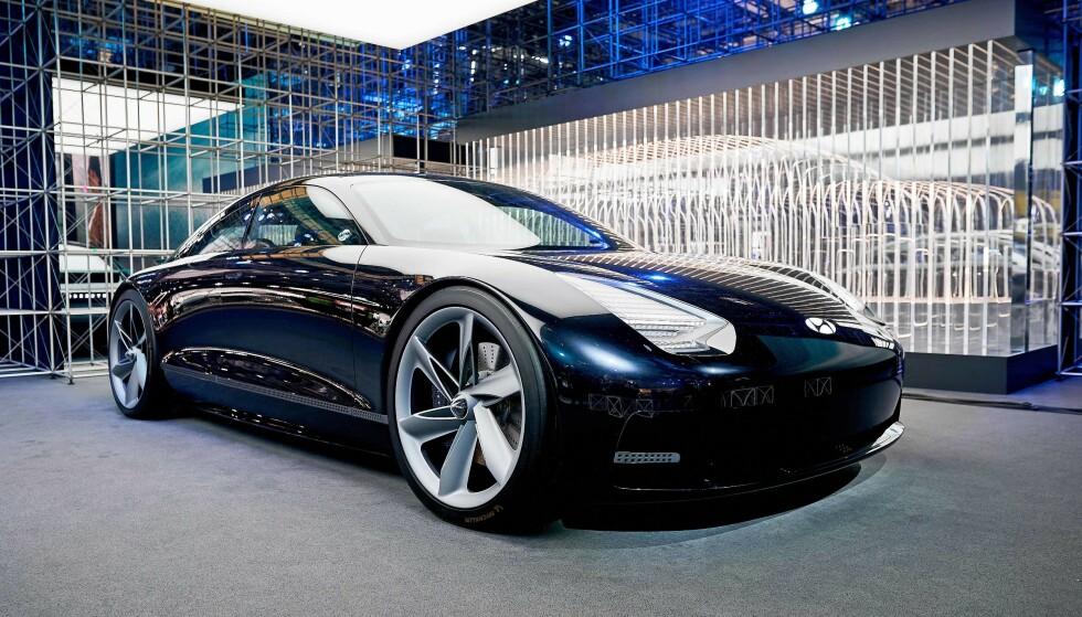 SPORTSLIG: Nye Ioniq 6 er inspirert av denne konseptbilen til Hyundai. Foto: Hyundai