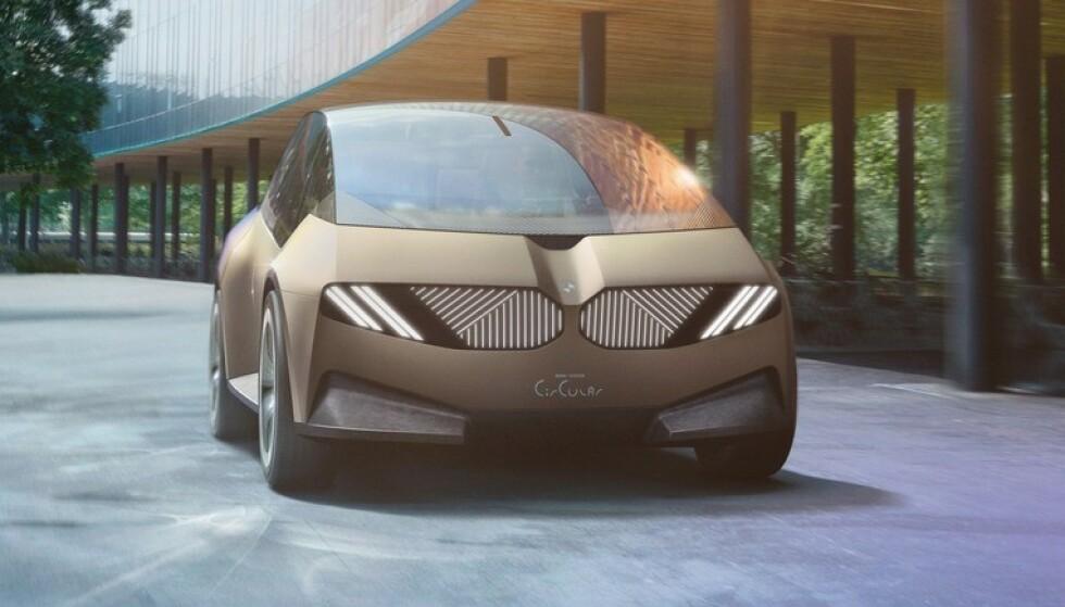KAN GJENVINNEES: I BMWs konseptbil er det bare materialer som kan gjenvinnes. Foto: BMW