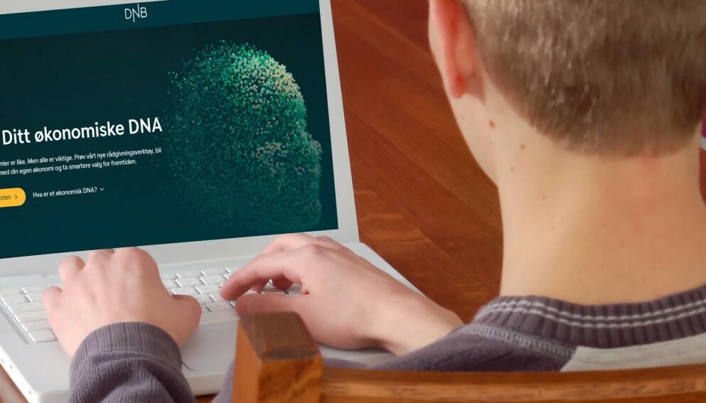 PSYKOLOGI OG ØKONOMI: Forsker og psykolog Rolf Marvin Bø Lindgrenog psykologspesialist Jan Ove Hesselberg har bidratt til spørsmålene om personlighet og økonomiske beslutninger i DNBs nye digitale test. Foto: Shutterstock/skjermdump
