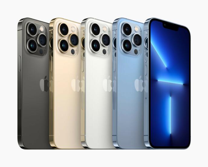 iPhone 13-serien kommer i noen nye fargevalg. Foto: Apple