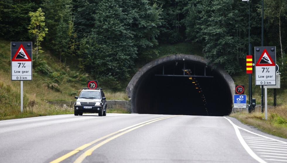STENGES: Oslofjordtunnelen skal oppgraderes med nye lys, og stenges derfor deler av døgnet. Foto: Cornelius Poppe/NTB