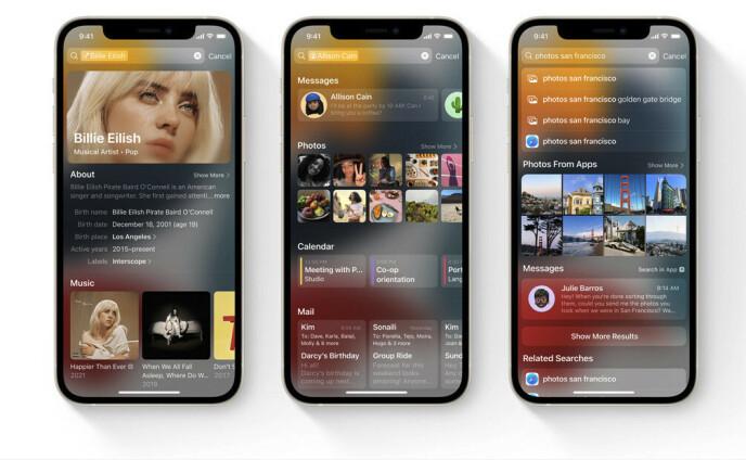 De zoekfunctie van Apple, Spotlight, krijgt veel nieuwe functies.  Foto: Appel