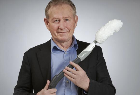 STØVDUSTER: Gründer bak DustPal Hans Petter Goller. Foto: Jon Erik Andersen