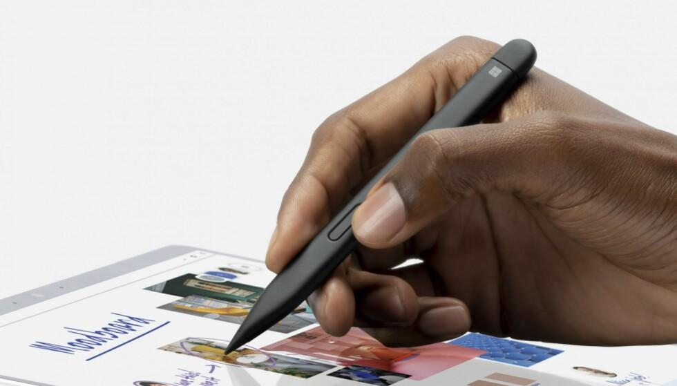 Surface Slim Pen 2 heeft een haptische engine die de indruk wekt op papier te schrijven.  Foto: Microsoft