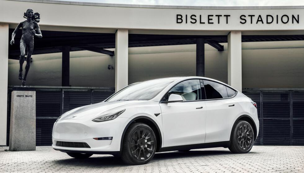 PÅ TOPPEN: Tesla Model Y kom til Norge i august og gikk rett til topps på salgslistene. Foto: Tesla