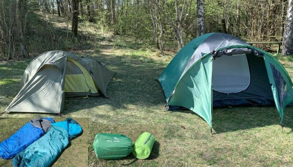 TRIPPELTEST: Vi gir deg råd til valg av telt, sovepose og liggeunderlag til høstens villmarkseventyr. Foto: Eilin Lindvoll