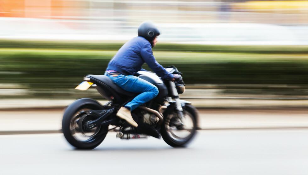 BRÅKER: 46 prosent av motorsyklene Statens vegvesen har kontrollert i år har hatt for høyt støynivå. Foto: Shutterstock / NTB