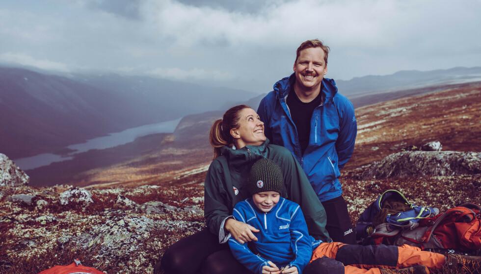 Glade dager: På tur med familien ved Sota Sæter. Foto: Jasemin Folvik