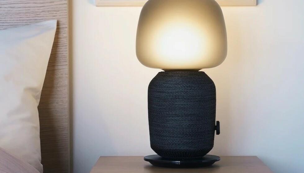 Slik ser den første modellen ut med bredere lampefot og en mer avrundet base. Foto: Ikea