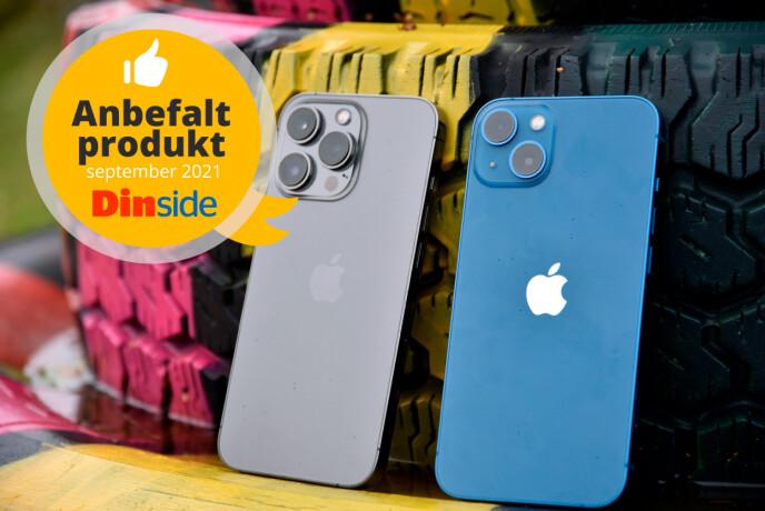 ANBEFALT: iPhone 13 Pro får Dinsides anbefalt-stempel.
