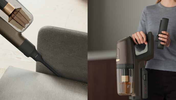 SMART: Et praktisk fugemunnstykke er perfekt for møbler, og avtakbar batteripakke.»