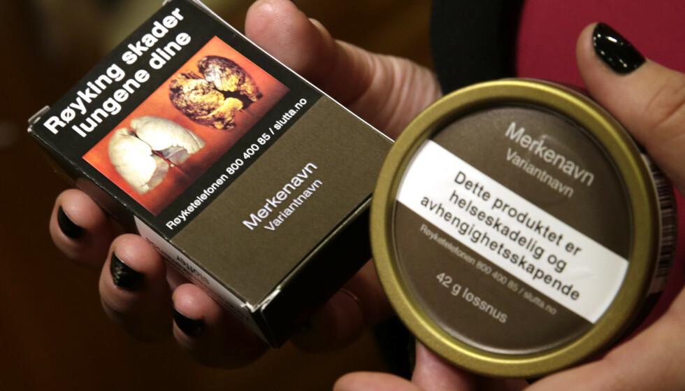 De nye pakkene med snus og tobakk ble innført i 2018 for å hindre at unge begynner å røyke og snuse. Det er usikkert om det har hatt særlig effekt, viser en ny studie. Foto: Vidar Ruud / NTB