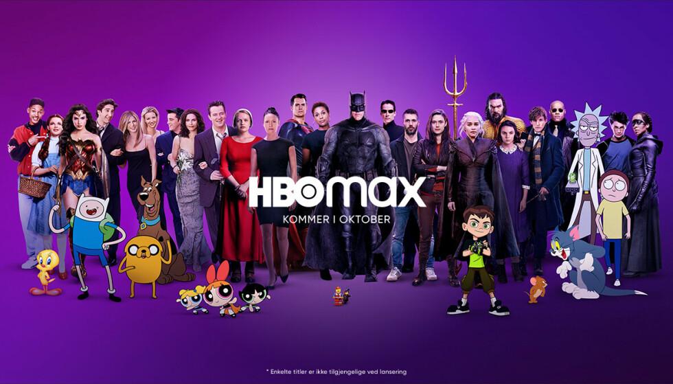 HBO MAX: Den nye strømmetjenesten lanseres 26. oktober i Norge. Foto: HBO Max