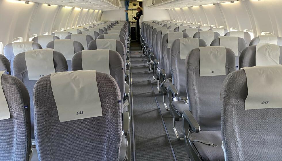 Økt etterspørsel: Rundt 1,1 millioner passasjerer fløy med SAS i september. Det er en økning på rundt 90 prosent i forhold til samme periode i fjor. Foto: Odd Roar Lange/The Travel Inspector