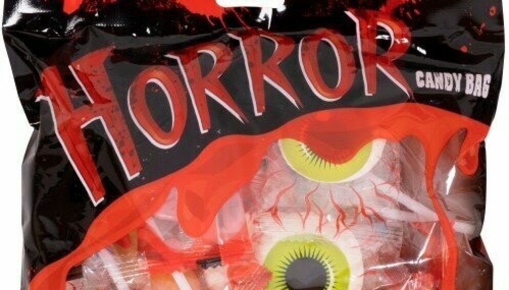 TILBAKEKALLES: Nilles «Horror Candy Bag» tilbakekalles, etter at det ble avdekket kvalitetsproblemer på produktet kjærlighet på pinne. Foto: Nille