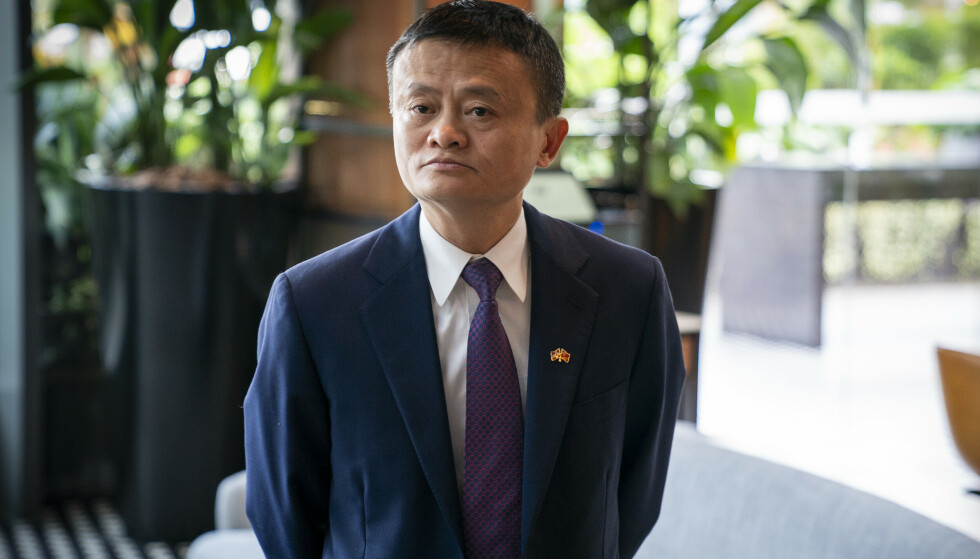 Styreleder og grunnlegger i Alibaba, Jack Ma, fotografert i forbindelse med en avtale med Marine Harvest om kjøp av norsk laks i 2018. Foto: Heiko Junge / NTB