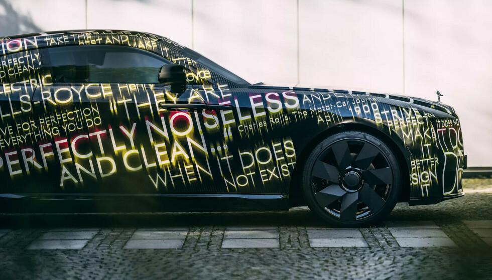 BARE ELBILER I 2030: Ifølge en talsmann for Rolls-Royce er det ikke mange kunder som spør etter en elbil. Fra 2030 vil fabrikken bare selge elbiler, på samme måte som moder-fabrikken BMW: Foto: Rolls-Royce.