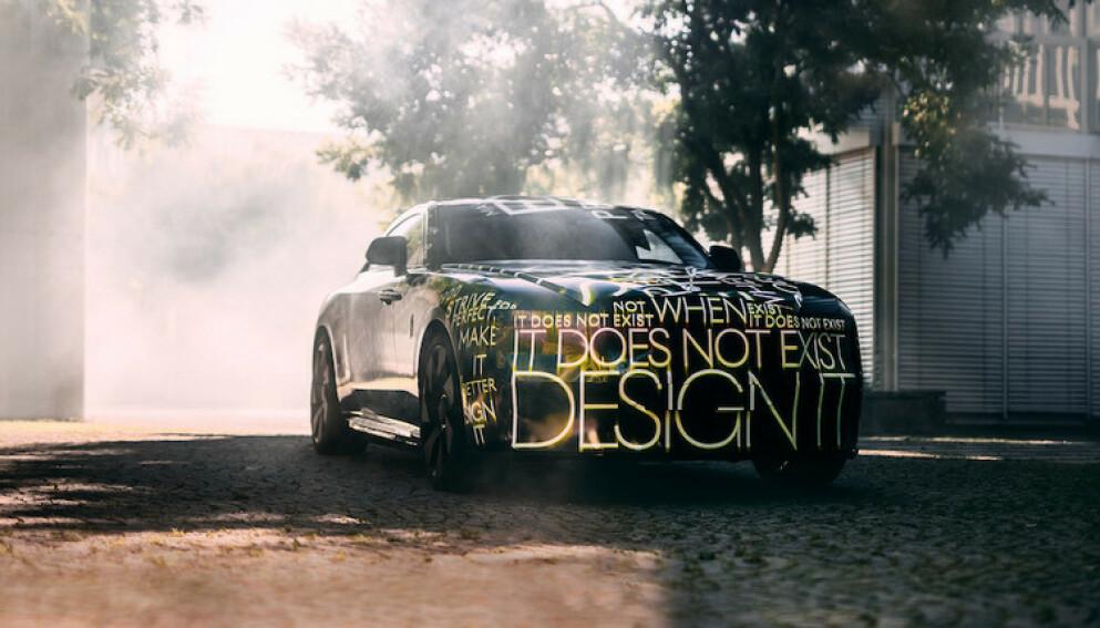 KLAR I 2023: De første kundene vil få sin elektriske Rolls-Royce Spectre i 2023. Den blir verdens første ultra-luksus elbil. Foto: Rolls-Royce
