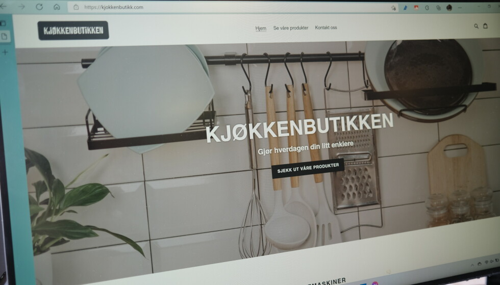FALSK NETTBUTIKK: Det ser kanskje ut som en legitim nettbutikk, men ... Foto: Martin Kynningsrud Størbu